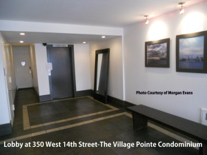 Lobby at the Village Pointe at 350 West 14th Street